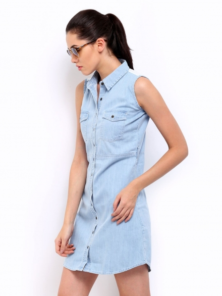 Light Blue Denim Dress